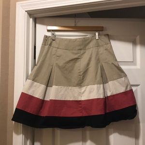 Fully lined color block skirt from The Limited